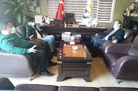 Rektör Yardımcısı Argunhan'dan odamıza ziyaret